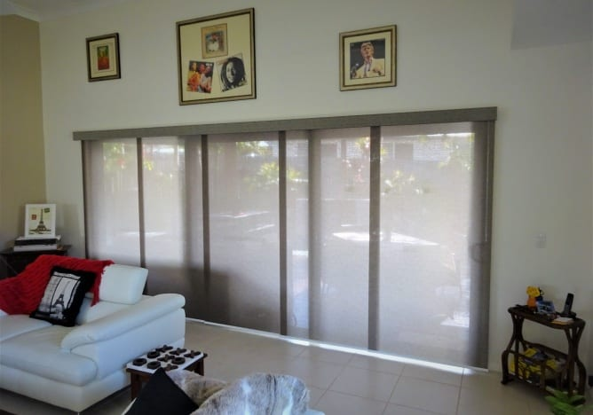 Photo of Panel Glide Blinds with Fabric Covered Fascia