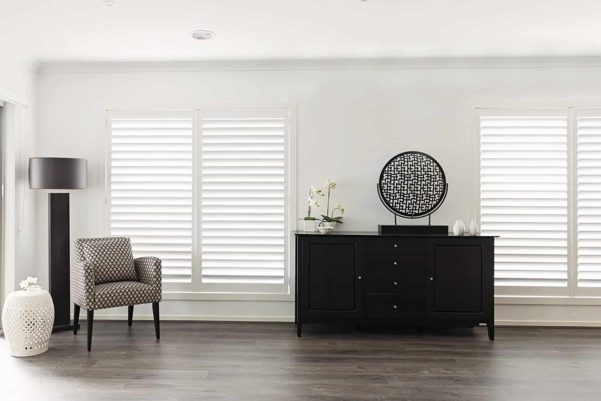 Photo of Dunhill Aluminium Shutters - Hinged White